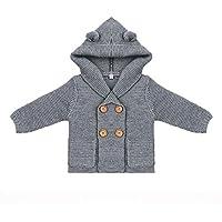 【可愛い君】子供服 ニットセーター 男の子 メリヤス プルオーバーセーター ニット編み フード付き ベビー ボーイズ 秋冬 かわいい 出産祝い 百日記念 0-18ヶ月に適して 3色