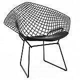 【Knoll】 Harry Bertoia Diamond Chair / ノル ハリーベルトイア ダイアモンドチェア (ブラック) (シートパッド:ブラック)