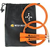 (Orange) - WOD Nation Speed Jump Rope - Blazing Fast Rope for Endurance training for Boxing, MMA, Martial Arts or Just Staying Fit + FREE Video Training Included - Fully Adjustable to Fit Men, Women and Children