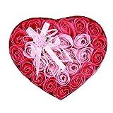 【 Alnair 】 ソープフラワー ギフト ボックス バラ ブルー ピンク プレゼント 造花 インテリア 誕生日 お祝い ギフトボックス (レッド)