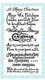 クリスマスの挨拶 - あなたにメリークリスマスウィッシュ ~ クリアスタンプ (9x18cm) // Christmas Greetings - Wish you a Merry Christmas ~ Clear stamps pack (9x18cm) FLONZ