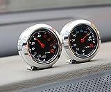 Mercury 車内用 アナログ 温度 & 湿度 計 丸型 コンパクト 小型 【2個 セット 】
