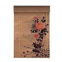 LIANGJUN 竹ロールスクリーン竹はウィンドウシェードを竹すだれ竹製カーテン断つ 耐摩耗性 日焼け止め 耐湿性 リビングルーム レストラン 、3色 カスタマイズ (色 : B, サイズ さいず : 80x180cm)