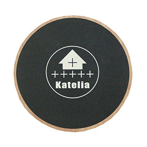 Katelia(カテリア) バランスボード バランス ディスク 体幹 木製 体幹 インナーマッスル エクササイズ ダイエット フィットネス サーフィン 直径40cm トレーニング 一覧書付(使い方)