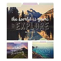 Eccoloワールドトラベラーファイルフォルダ、9のセット、旅行写真( t617h )