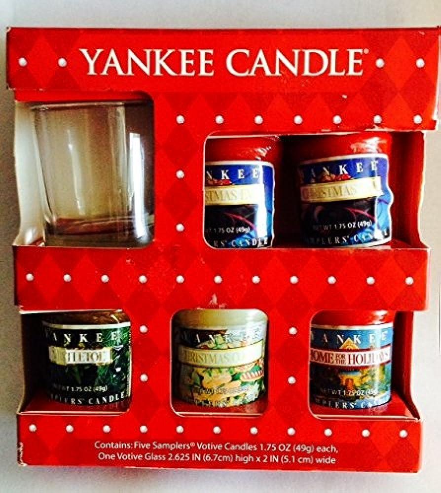 不快ケニア削除するYankee Candleサンプラー – Holiday Votiveキャンドルホルダー付き