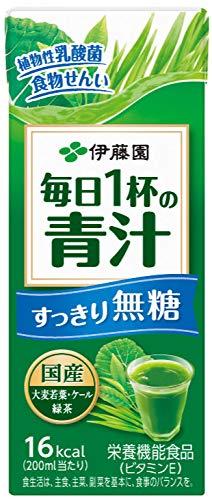毎日1杯の青汁 すっきり無糖 紙パック 200ml ×24本