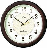 SEIKO CLOCK (セイコークロック) 掛時計 ザ・ナショナル・トラスト 木枠 (ぼかし茶木地塗装) 電波時計 KX344B
