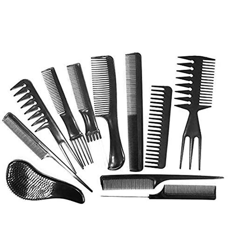 Daimay Professional Hair Styling Comb Set Hair Styling Clips Salon Hair Styling Barbers Comb Set Variety Pack...