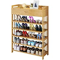 靴のキャビネットシンプルな玄関大容量5層の固体木の竹引き出しタイプのホームシューズラック (サイズ さいず : 70cm)