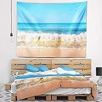 "Designart TAP10672-39-32美しい青い海と轟音Wavesタペストリー、中/ 39""×32"""