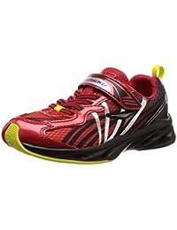 [シュンソク] 運動靴 通学履き 瞬足 速乾 通気性UP 軽量 20~24.5cm キッズ 男の子 SJJ 5240 レッド 20 cm 2E