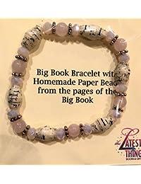 AA Big Bookブレスレットピンク&シルバービーズMadeから実ページからThe Big Book