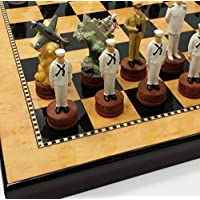 WW2 Pearl Harbor US vs Japan Chess Set W/ 15