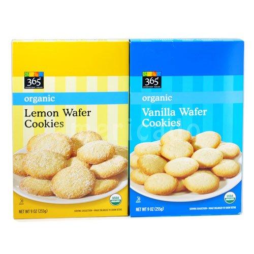365 オーガニック ウェーハー クッキー 2種類 セット 365 Organic Wafer Cookie 2 Sets [並行輸入品]