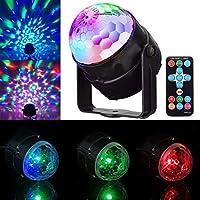 ディスコKTVクリスマスバークリスマスのパブのためのリモートコントロールバルブDJディスコライトパーティーマジックボールランプRGB LED舞台効果回転パーティーライトクリスタルボール