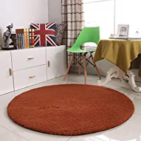 Carpet 厚いラウンドカーペットフィットネスヨガマットコンピュータチェアクッションベッドルームリビングルームベッドカーペットノンスリップカーペット A+ (色 : C, サイズ さいず : 160cm(63inch))