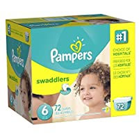 Pampers Swaddlers Disposable Diapers Size 6, 72 Count, GIANT