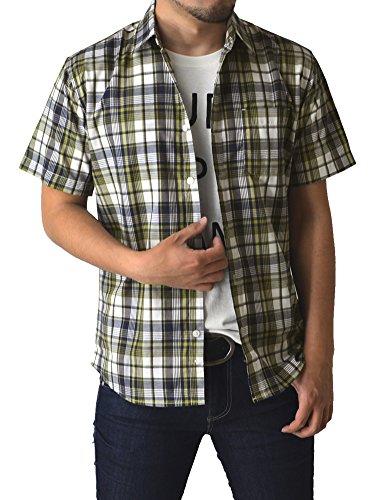 (リミテッドセレクト) LIMITED SELECT P2 シャツ メンズ チェック柄シャツ 半袖 ストライプ R4G-0790 L E 5柄