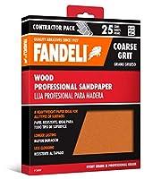 Fandeli 36009 Coarse Grit Wood Sandpaper Sheets, 9 x 11, 25-Sheet by Fandeli