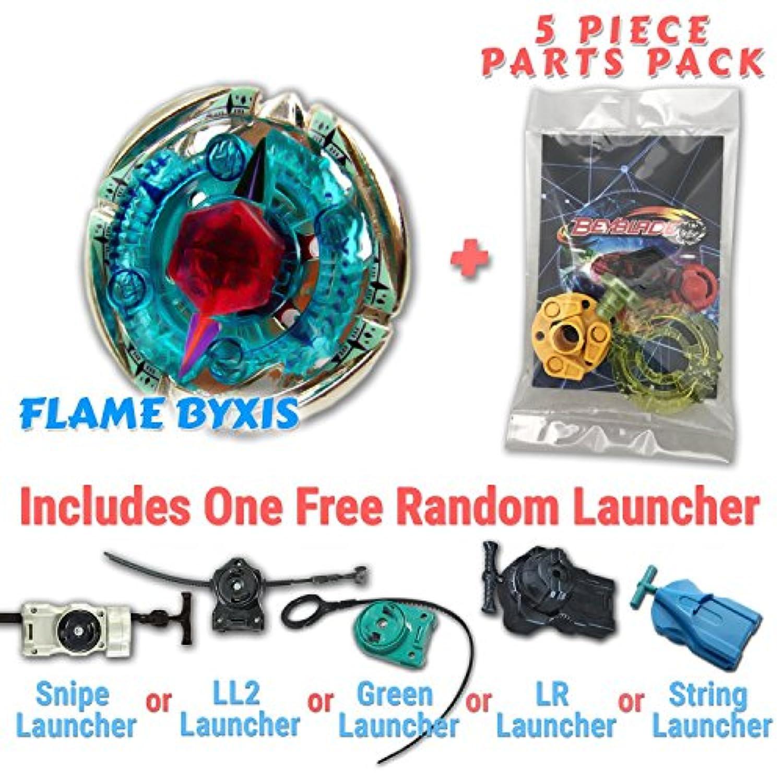 Flame Byxis bb-95ベイブレードスターターセットIncludes Freeギフト – 1 Launcher、1ランダムStatsカード、& 5ピースベイブレードパーツパック – すべてからメタルFusion、メタルFury、&メタルMastersシリーズ