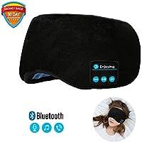 Bluetooth Sleeping Eye Mask | Sleep Headphones, Joseche Wireless Bluetooth Headphones Music Travel Sleeping Headset 4.2 Bluetooth Handsfree Sleep Eye Shades Built-in Speakers Microphone Washable