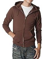 (ティーシャツドットエスティー) Tshirt.st ビビッドカラー 薄手で軽い着心地のジップアップライトパーカー (WM S M L XL XXL)