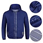 cozihoma 空調服 薄手メンズ エアーコンデ ィショニング服 作業服 4風ファン が付属 サイズ