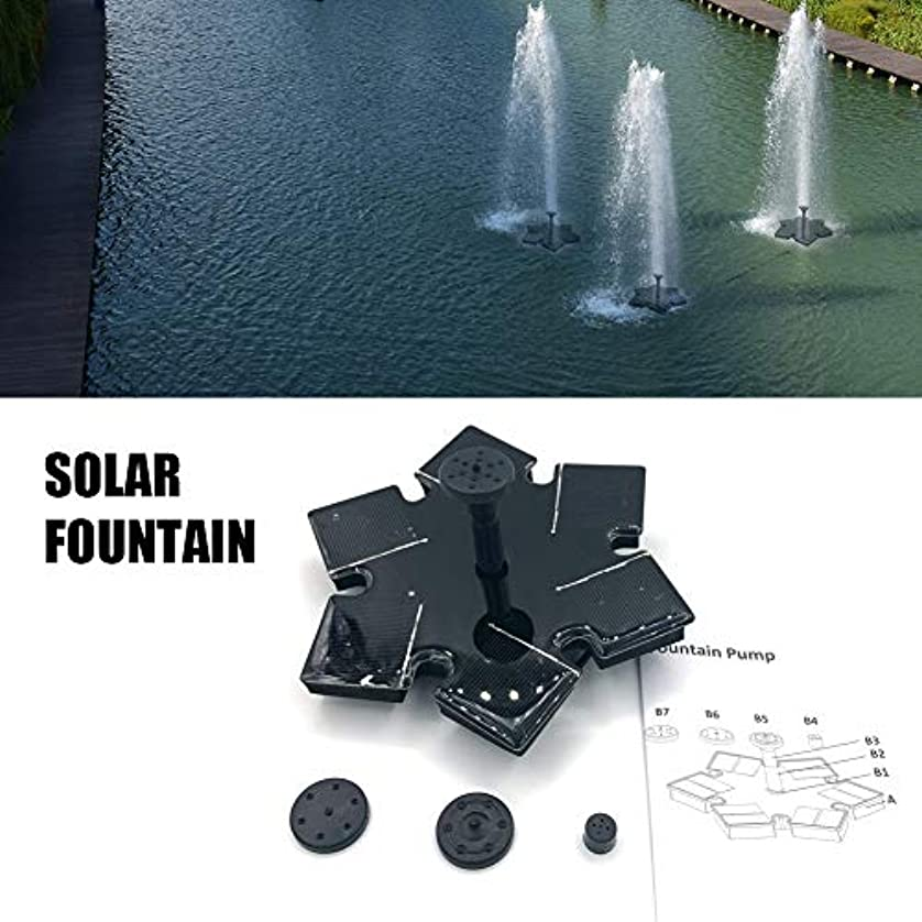 割る強打群がるソーラー噴水ポンプ 7選択可能なスプレーミニソーラーパネルのフローティング噴水太陽熱温水泉ガーデンプール池アウトドア WZZJP