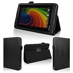 wisers 保護フィルム付 東芝 Toshiba Tablet AT7-B618 AT7-B619 タブレット 専用 ケース カバー ブラック