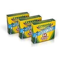 Crayolaクレヨン64 Count (セットof 3 )、Bulkクレヨン、Styles Vary