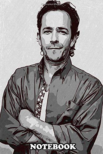 "Notebook: Luke Perry Artwork , Journal for Writing, College Ruled Size 6"" x 9"", 110 Pages"