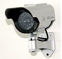 防犯効果バツグン! 屋外設置用ダミーカメラ 赤色LED灯付き ソーラー発電式で経済的 取付簡単 FMTCCD220