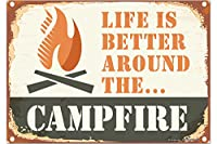 冷蔵庫用マグネット Fridge Magnet Retro Camp fire
