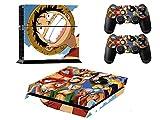 プレイステーション 4 対応用カバー 保護 スキン シール PS4に適用 Skin 本体用 コントローラー 用 ×2枚 (ONEPIECE-2622)