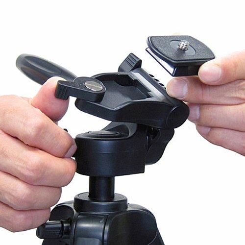 Velbon 卓上三脚 EX-Macro 3段 レバーロック 脚径17mm 小型 3Way雲台 クイックシュー対応 アルミ脚 301741