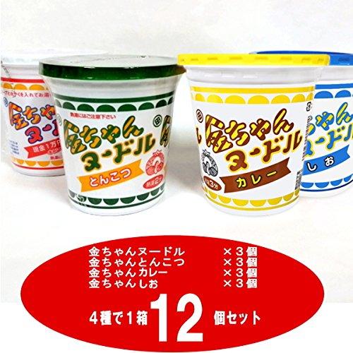徳島製粉 金ちゃんヌードル4種で1箱セット(ヌードル・とんこつ・しお・カレー)