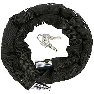 Ecasloバイクチェーンロック盗難防止ワイヤーロック原付自転車鍵φ24mm×1100 mm 鍵2本