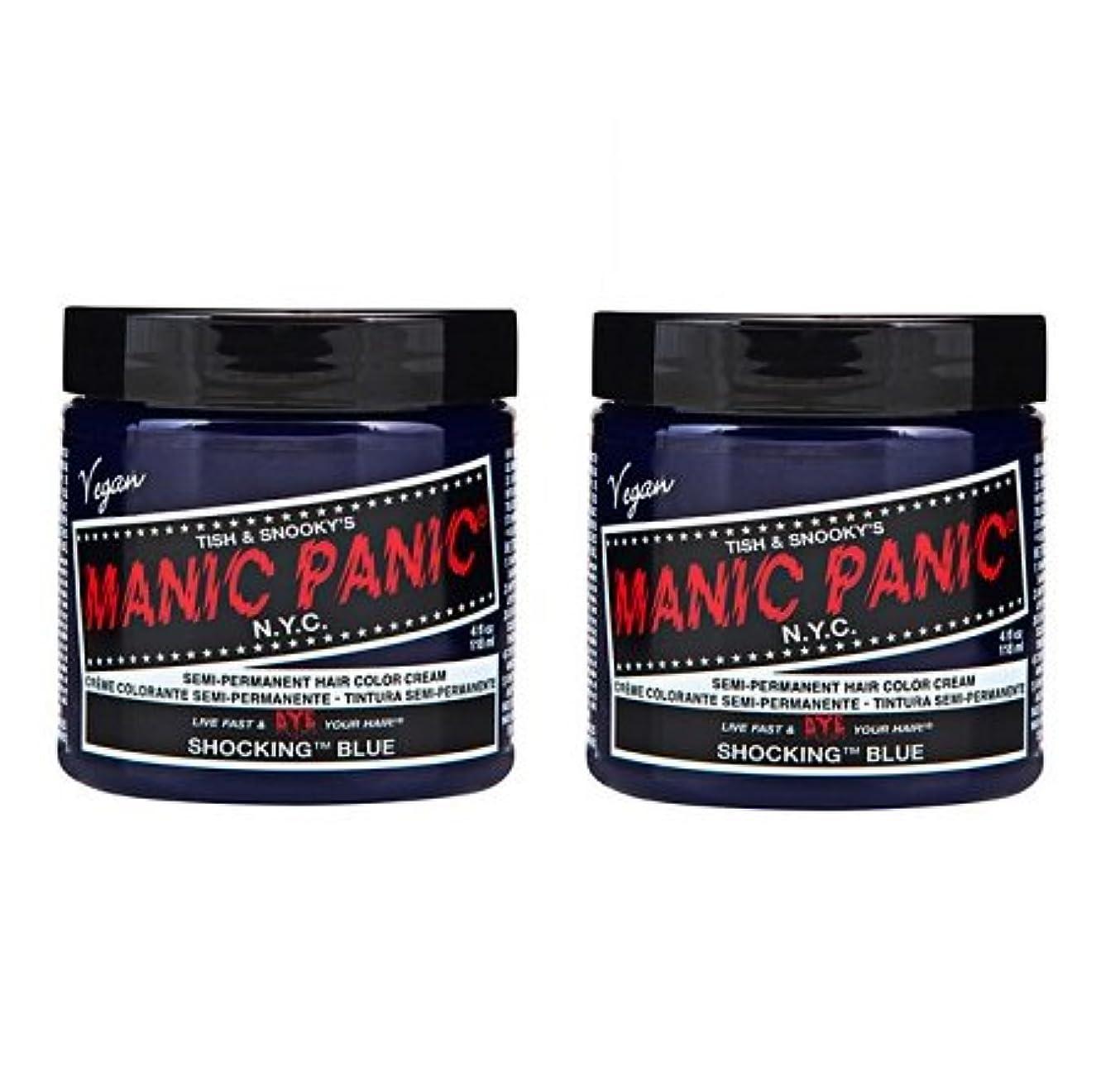 掻く二週間常識【2個セット】MANIC PANIC マニックパニック Shocking Blue ショッキングブルー 118ml