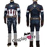 【cosplaysky】アベンジャーズ 2 キャプテン アメリカ コスプレ 衣装衣装男性L