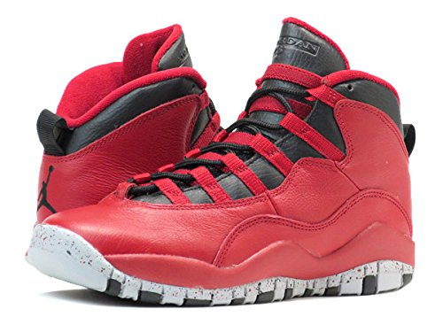 [ナイキ]NIKE AIR JORDAN 10 RETRO 30TH BG GYM RED/BLACK [並行輸入品]