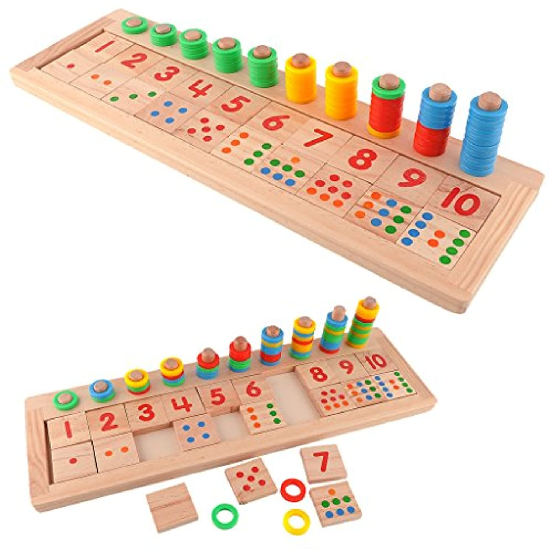 MisrightクリエイティブカラフルTeachingツール数学数木製ボード教育Preschool Toy for Kid