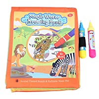 Fdit ベビー キッズ 水描き絵画 布製本 ペン付き 再利用可能 学習玩具 プレゼント