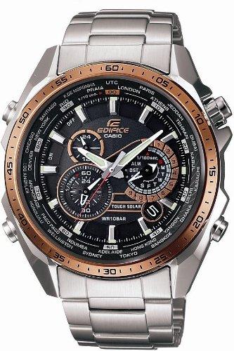 [カシオ]CASIO 腕時計 EDIFICE エデフィス ソーラークロノグラフモデル EQS-500DB-1A2JF メンズ