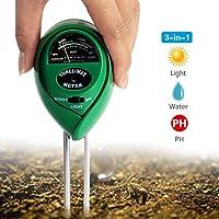 LANMU 土壌測定器 多機能3in1 土壌酸度/照度/水分計 土壌のPH/照度/水分検定 電源不要 土壌 テスター 農業、栽培、家庭菜園対応 簡易型 屋内/屋外使用可能