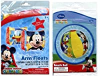 Disney Mickey Mouse Inflatable Beach Ball and Arm Float Set