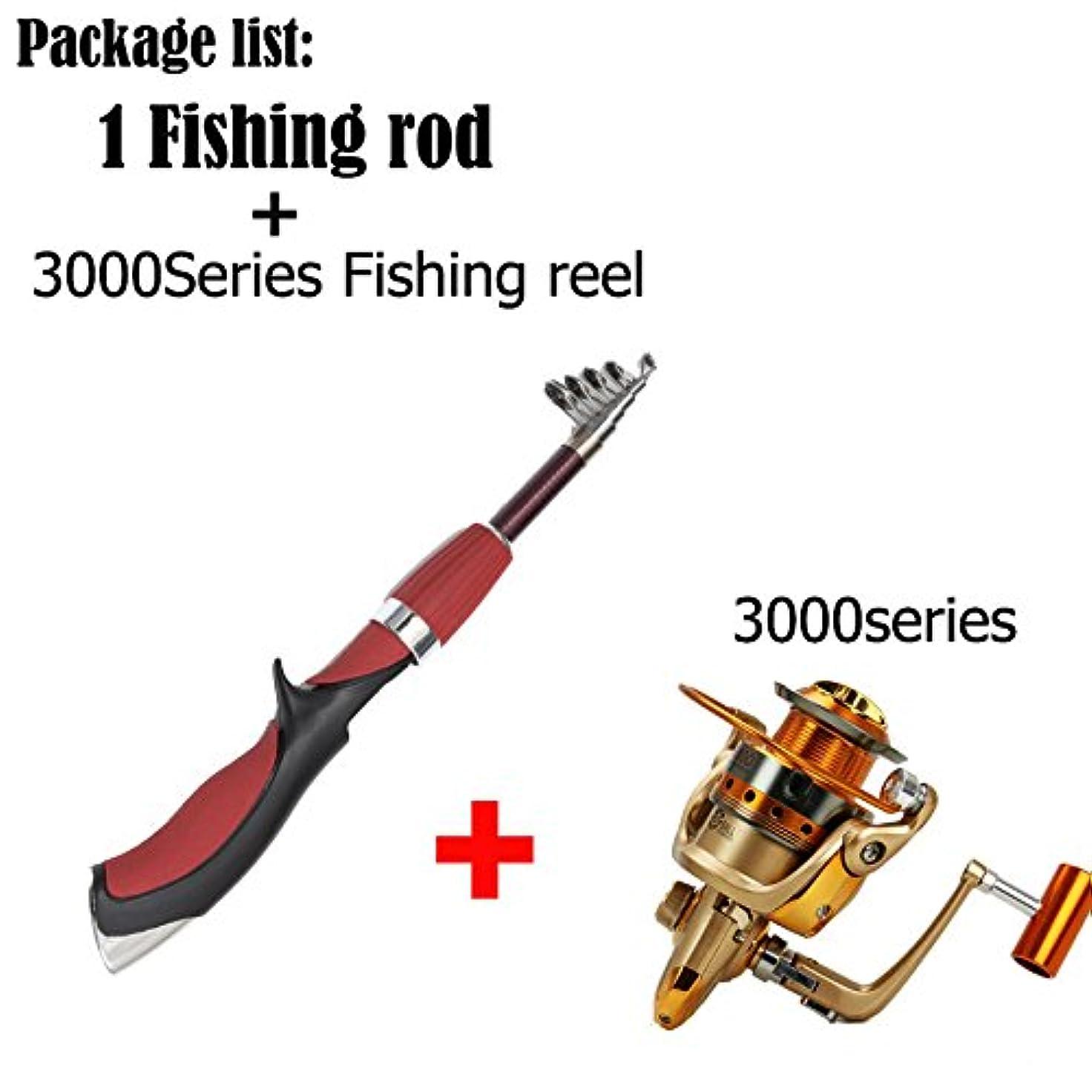 高価な廃止するカブ釣り初心者セット軽量強度釣りスピニングリール_3000シリーズ(ロッドとセット)