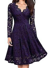 bc7c9635bdd3d Amazon.co.jp  パープル - ワンピース・チュニック   ワンピース・ドレス ...