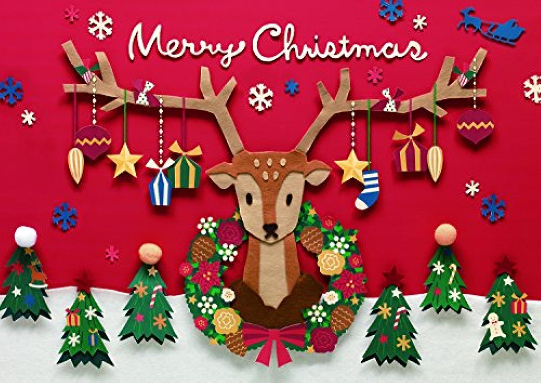 イエスタ ハッピークリスマス クリスマス 背景ポスター