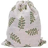 Bullidea Drawstring Bag Shoe Storage Or Underwear Storage Creative Floral Print Gym Folding Bag for School Travel Or Sport(S)